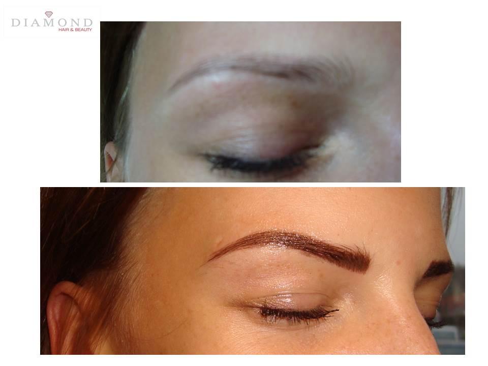 makijaż permanentny metoda piórkowa gdańsk gabinet kosmetologii Diamond
